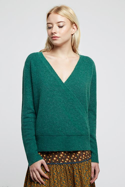 Louche Antonia Wrap Jumper Teal
