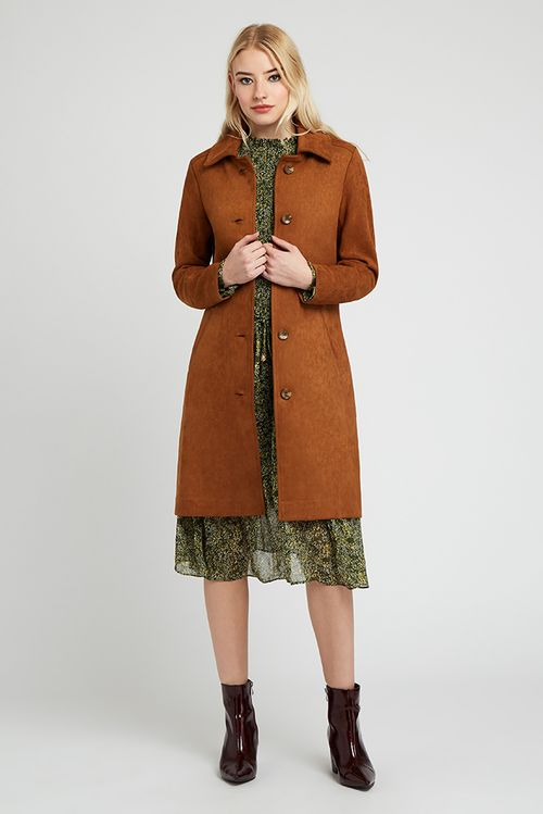 Louche Emerson Suedette Jacket Brown