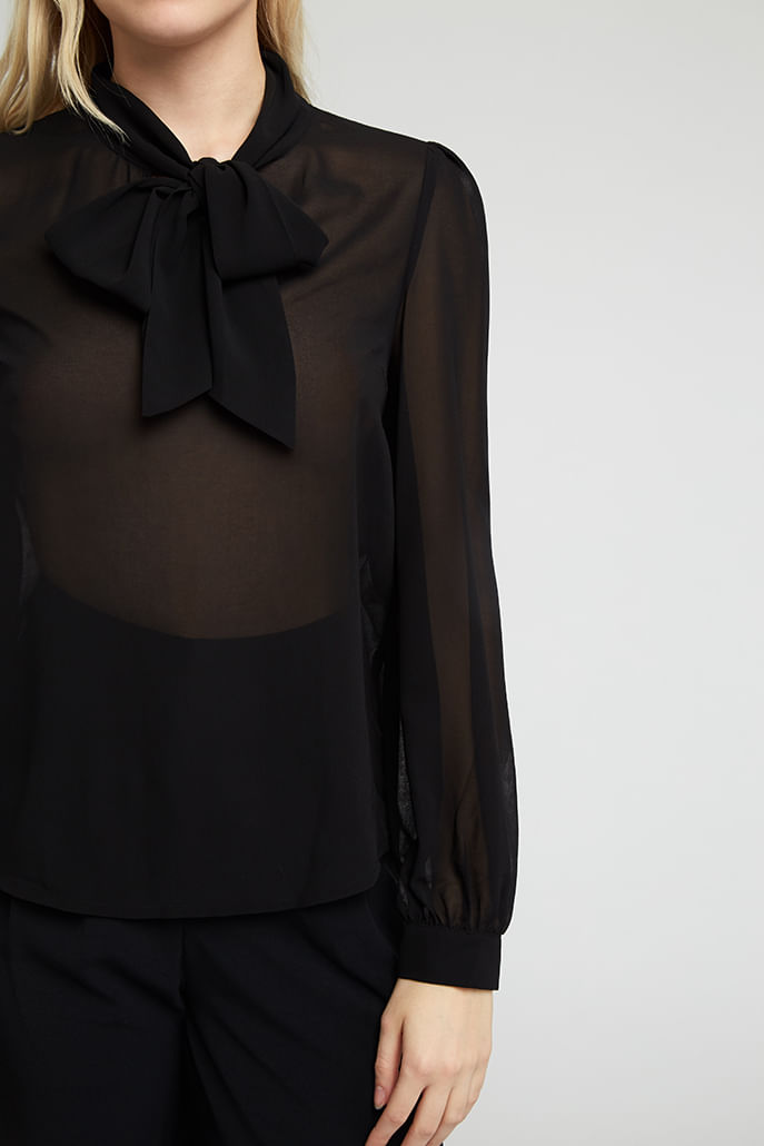 Louche-Adelphine-Georgette-Tie-Neck-Blouse-Black---Other-2