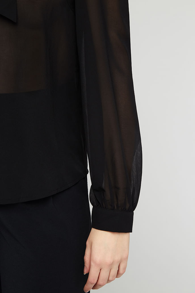 Louche-Adelphine-Georgette-Tie-Neck-Blouse-Black---Other-3