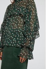 Louche-Zoelie-Deco-Floral-Blouse-Green---Second