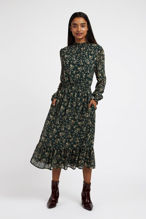 Louche Lois Mapleleaf Midi Dress Multi