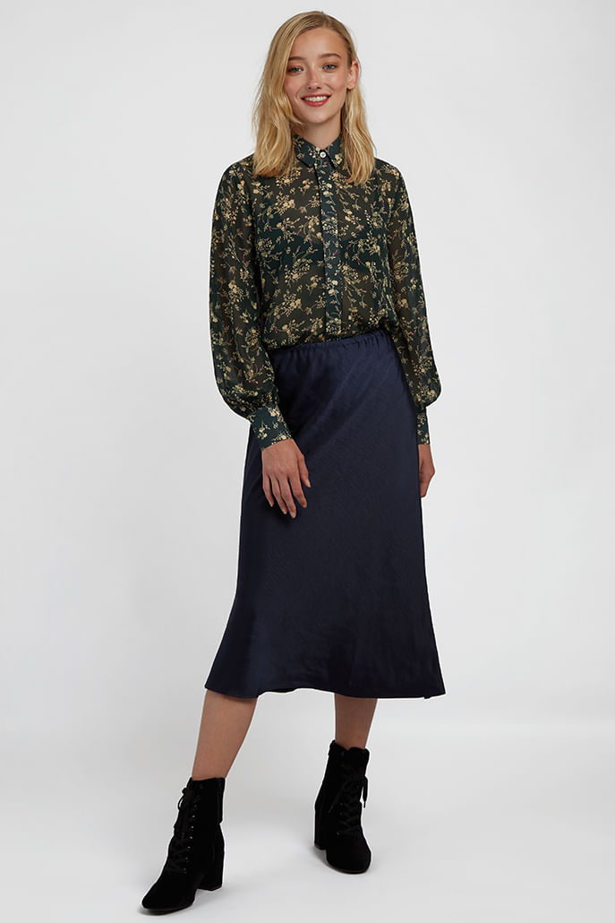 Louche-Byron-Mapleleaf-Printed-Blouse-Green---Second
