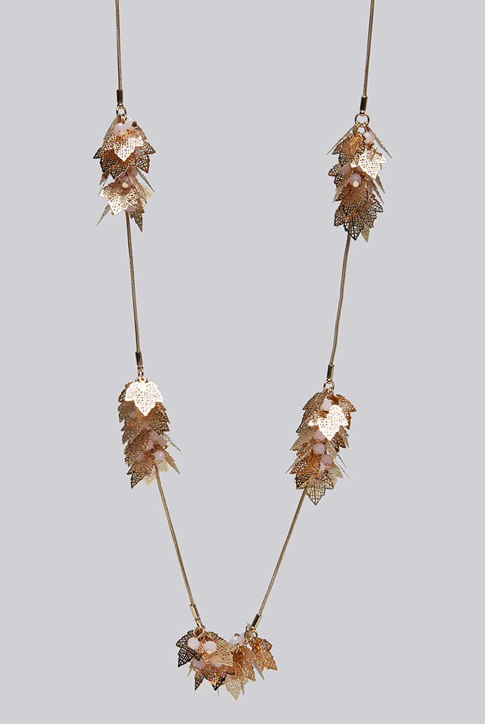 Louche-Lola-Long-Leaf-Cluster-Necklace-With-Stone-Gold----Main