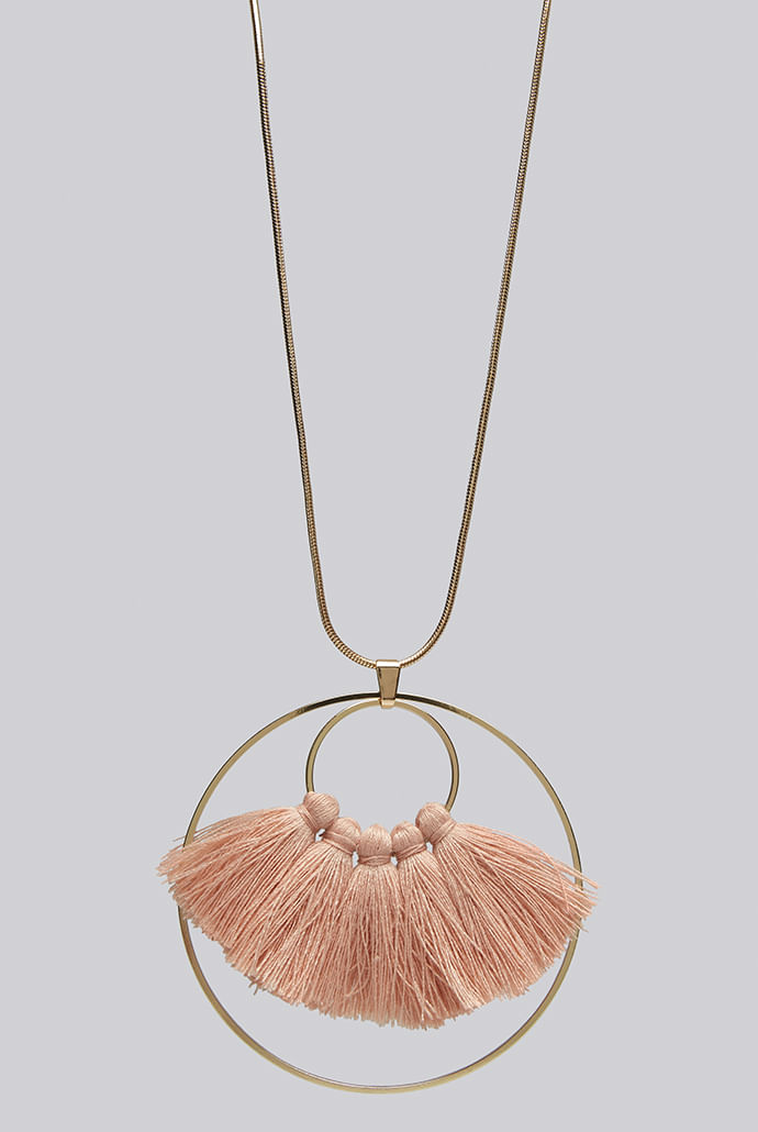 Louche-Steph-Tassel-And-Circle-Pendant-Necklace-Gold----Main