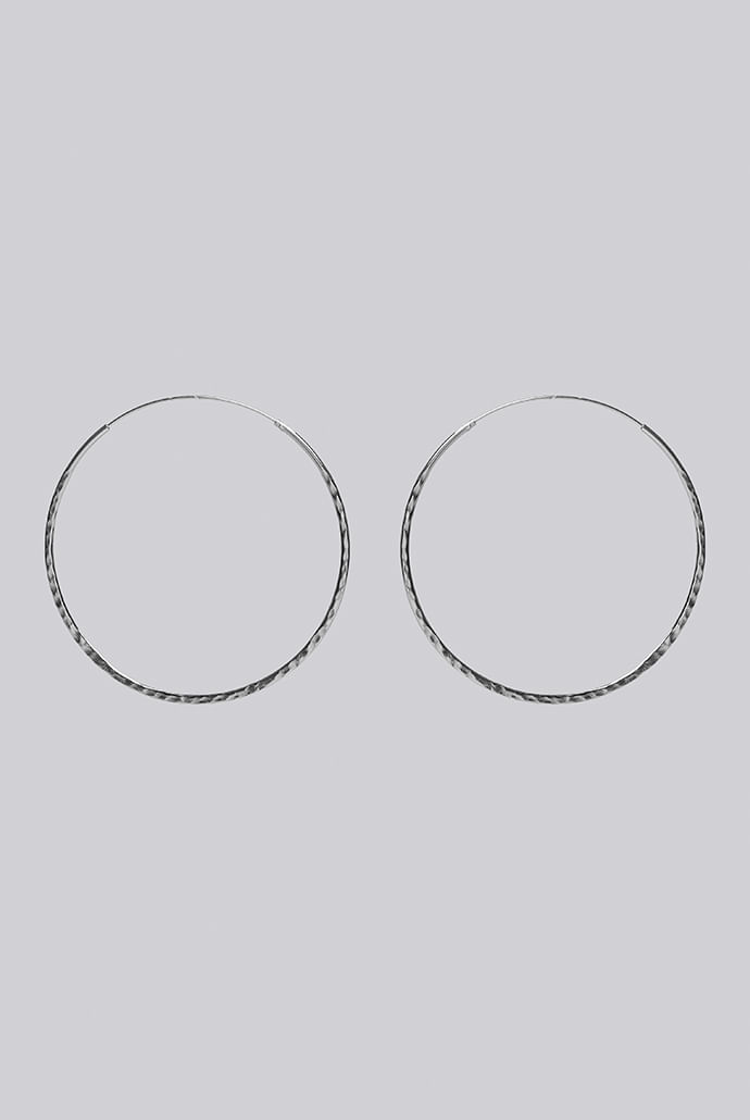 Louche-Luxe-Frances-Sterling-Silver-Hoop---Main