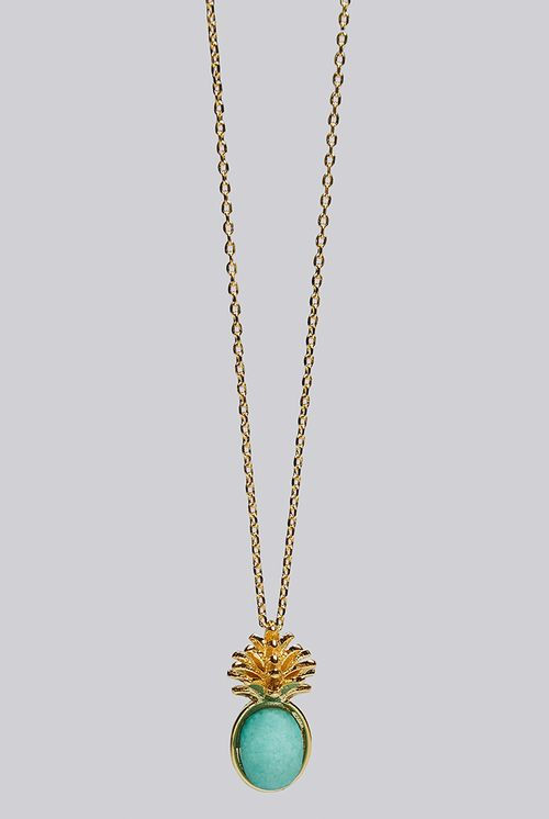 Louche Luxe Zora Pineapple Necklace Gold