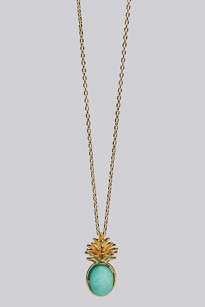 Louche-Luxe-Zora-Pineapple-Necklace-Gold----Main