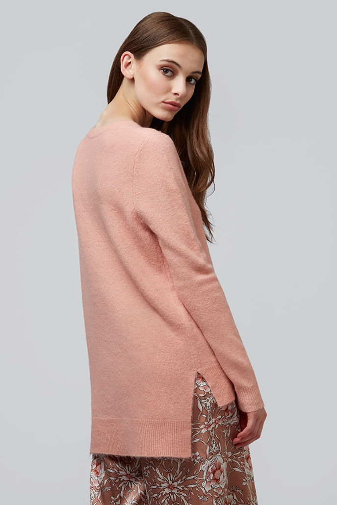 Louche-Morgane-Step-Hem-Jumper-Pink---Main