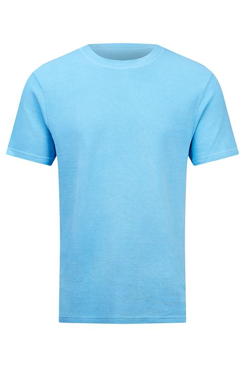 Hymn Skirmish Mini Waffle Tee Shirt Blue