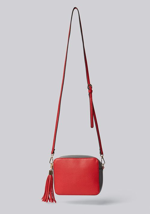 Louche Daisy Camera Bag With Tassel Red