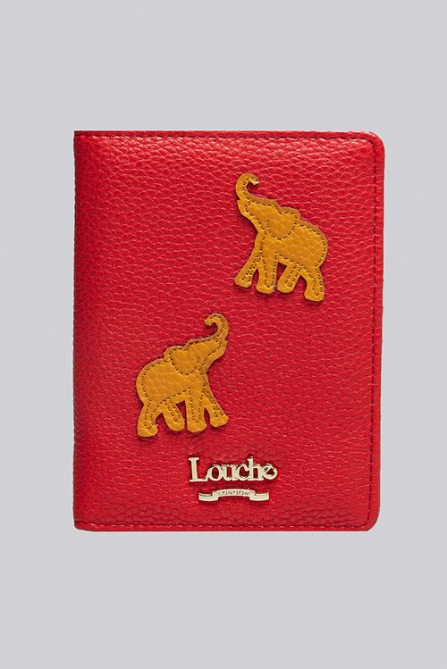 Louche Isabelle Elephant Passport Cover Red