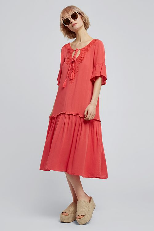 Louche Kamara Dress Red