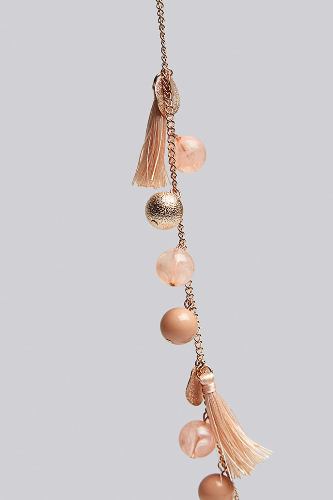 Louche-Laura-Tassel-And-Bead-Rose-Gold-Necklace---Other