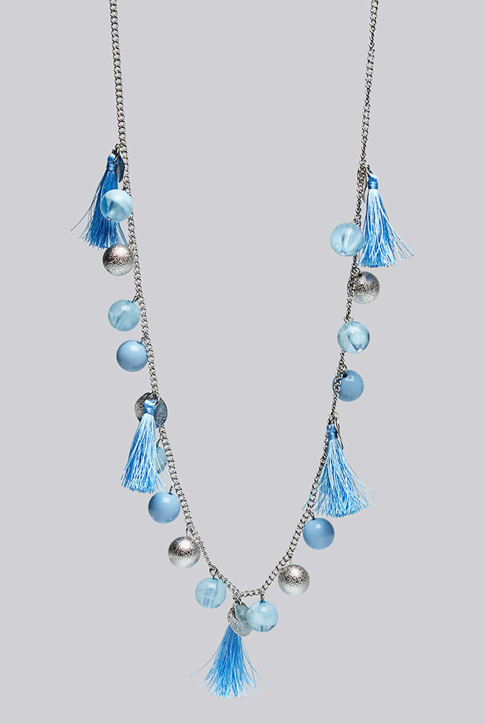 Louche-Laura-Tassel-And-Bead-Silver-Necklace---Main
