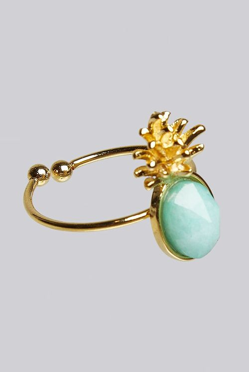 Louche Luxe Zora Pineapple Ring Gold