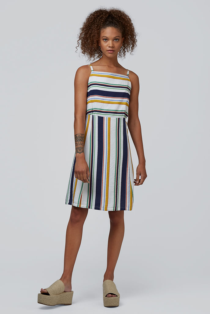 Louche-Sandrine-Striped-Cami-Dress-Multi---Main