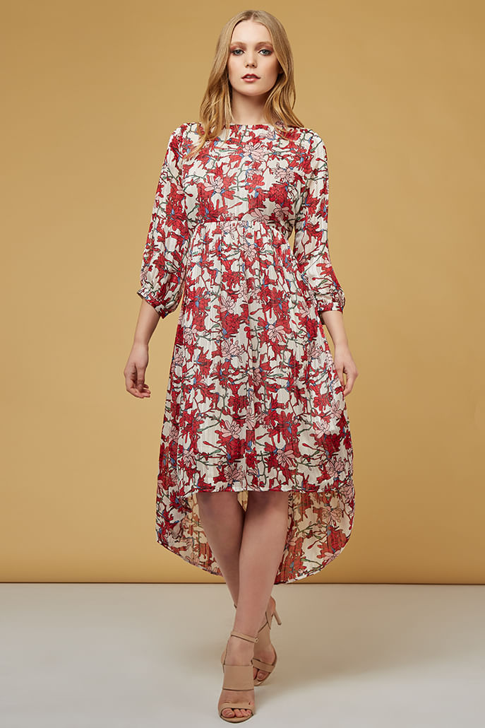 Louche-Veronique-Spider-Lilly-High-Low-Dress-Multi---Main