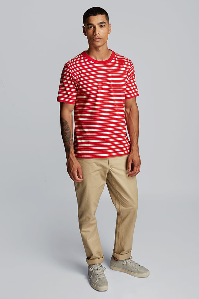 Hymn-Fastlane-Stripe-Mens-T-Shirt-Red---Main