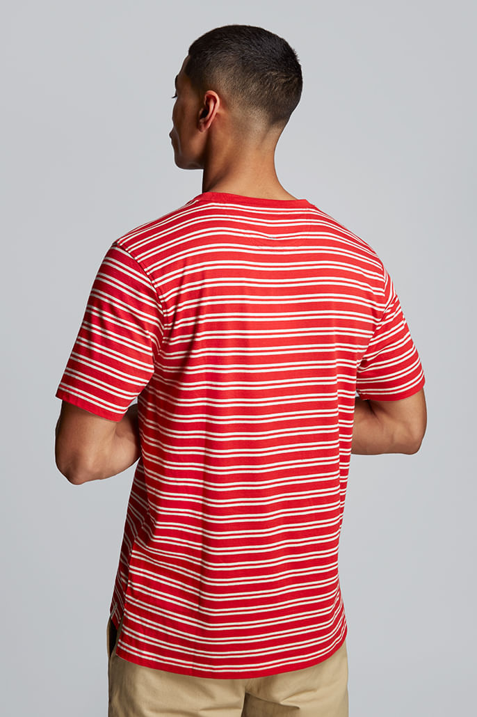 Hymn-Fastlane-Stripe-Mens-T-Shirt-Red---Other