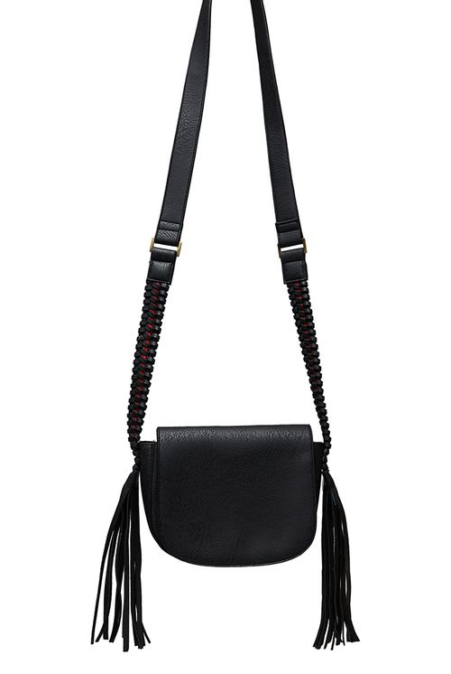 Louche Clay Saddle Bag With Tassel Detail
