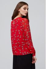 Louche-Eunice-Fox-Blouse-Red---Second