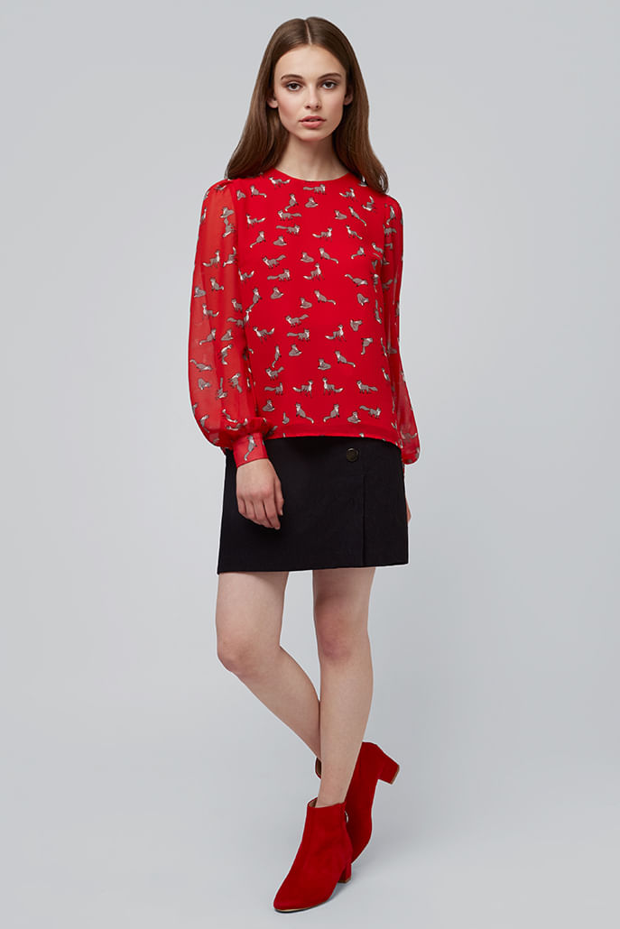 Louche-Eunice-Fox-Blouse-Red---Other