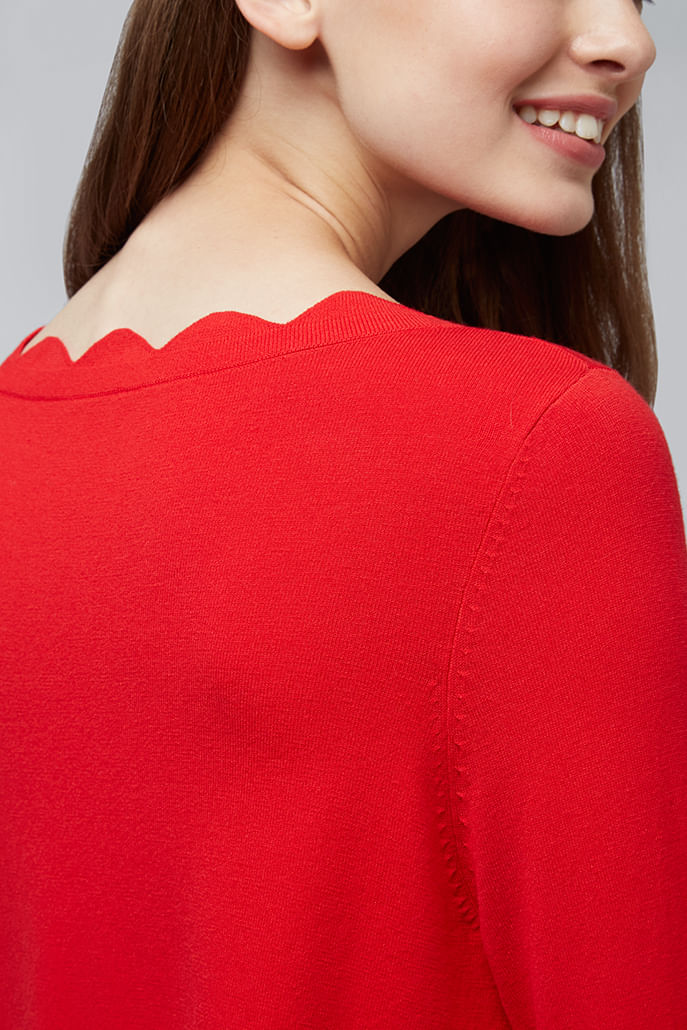 Louche-Sonja-Scallop-Neck-Jumper-Red---Other