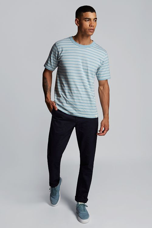 Hymn Fastlane Stripe Mens T-Shirt Blue