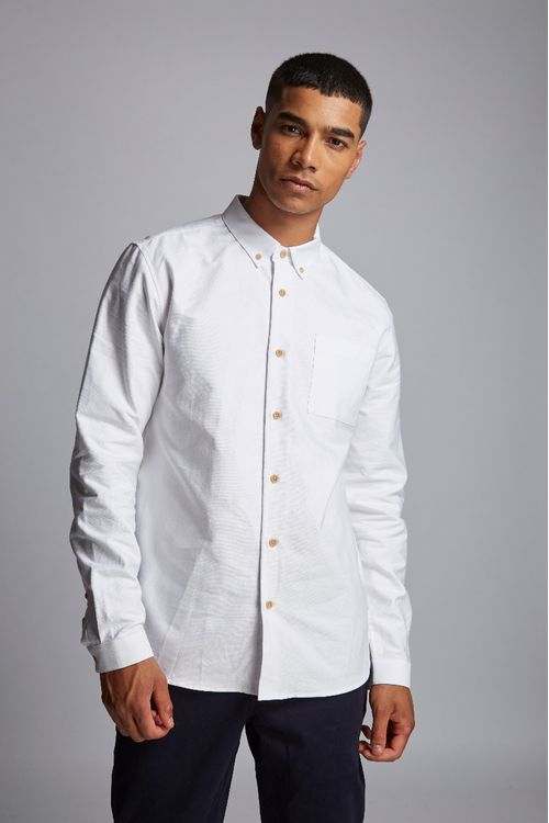 Hymn Sammons Birdseye Oxford Shirt White
