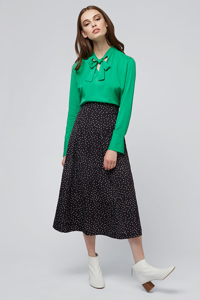 Louche-Kiyo-Spot-Midi-Skirt-Black---Main