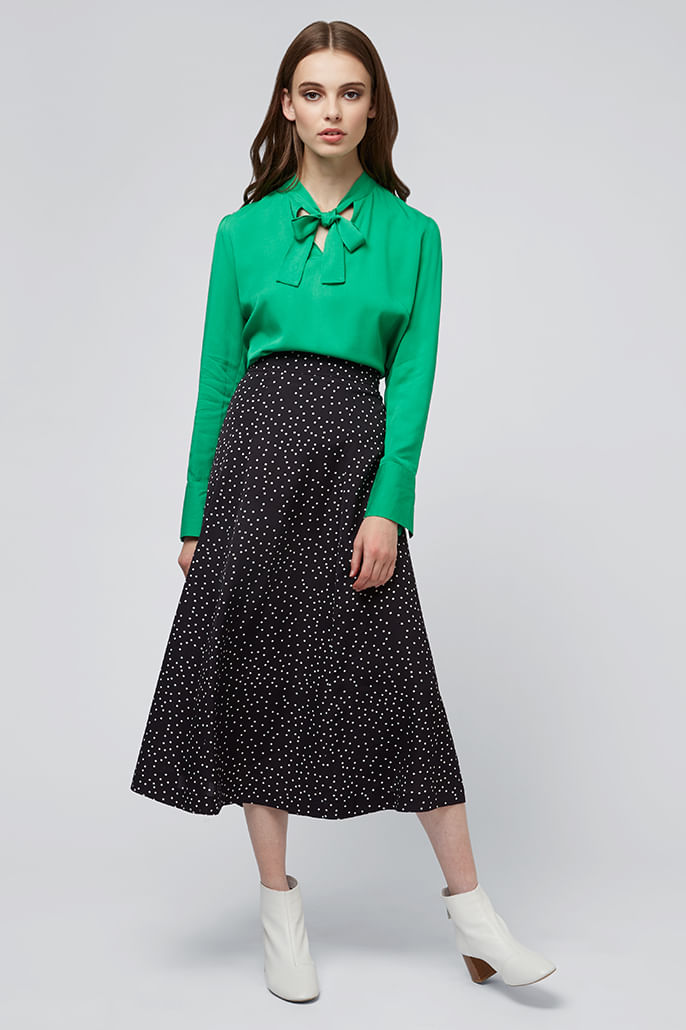 Louche-Kiyo-Spot-Midi-Skirt-Black---Second