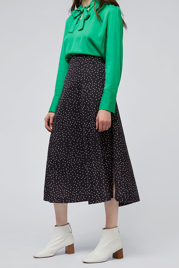 Louche-Kiyo-Spot-Midi-Skirt-Black---Other