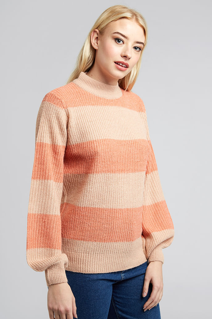 Ihgreenfire-Wide-Stripe-Jumper-Pink---Main