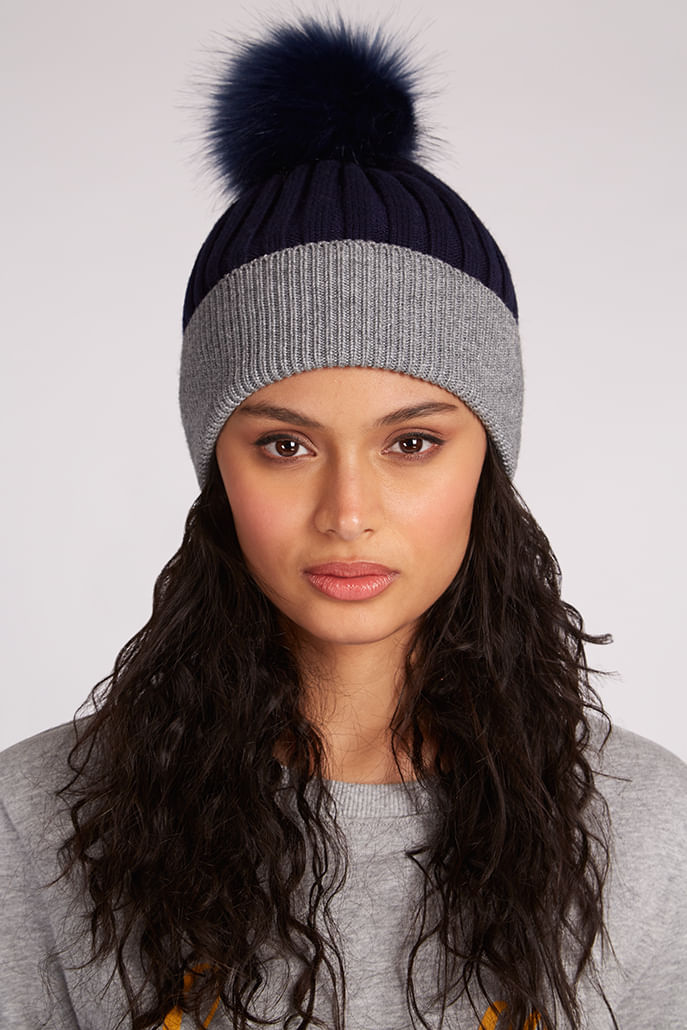 Louche-Jacinta-Two-Tone-Beanie-Navy---Second