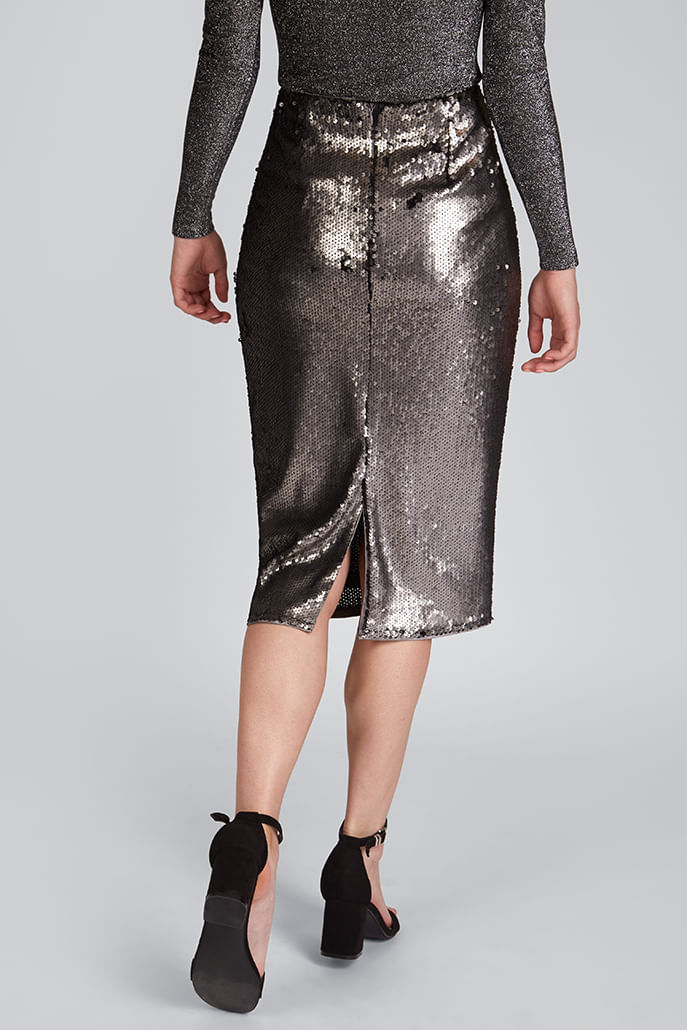 Louche-Leana-Sequin-Skirt-Silver---Other