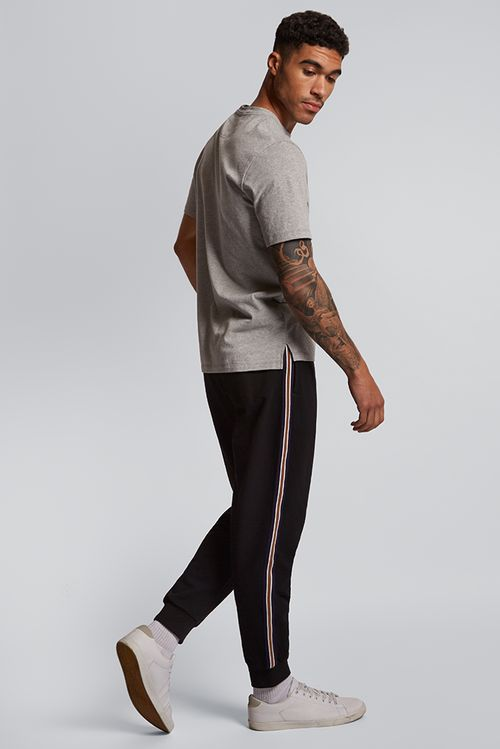 Hymn Side Tripe Jogger Black