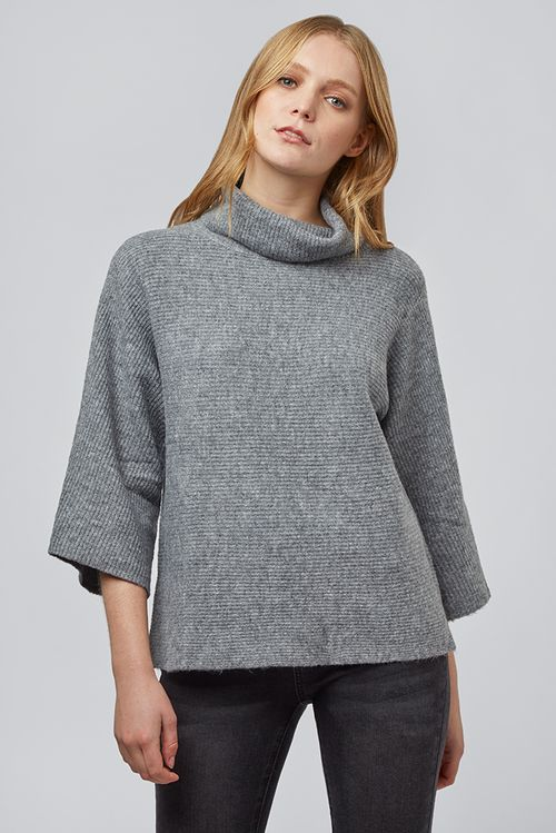 Louche Orama Roll Neck Jumper Grey