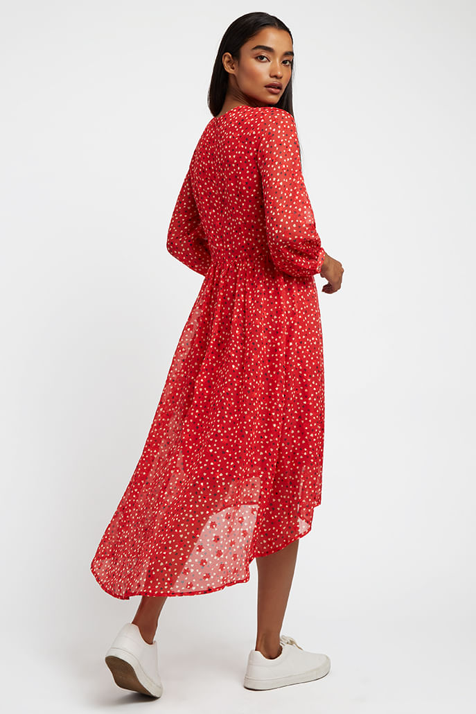 Louche-Veronique-Cupid-Midi-Dress-Red---Other