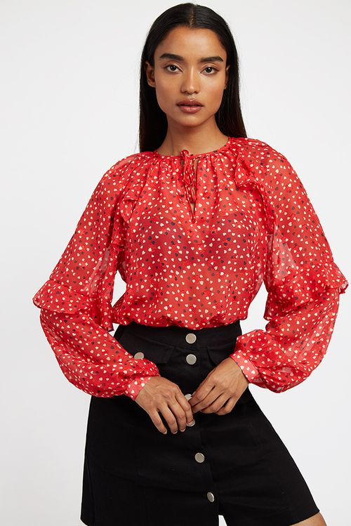 Louche Alba Cupid Blouse Red