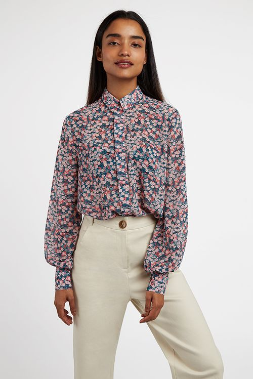 Louche Byron Cherry Blossom Blouse Green