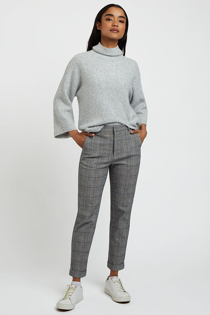 Louche-Jaylo-Prince-Of-Wales-Check-Trouser-Blk-Whte-Main