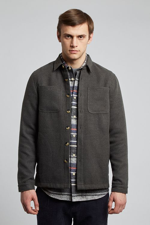 Hymn Wattle Jacket Grey