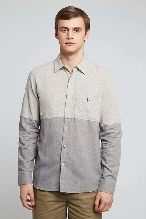 Hymn Divide Shirt Grey