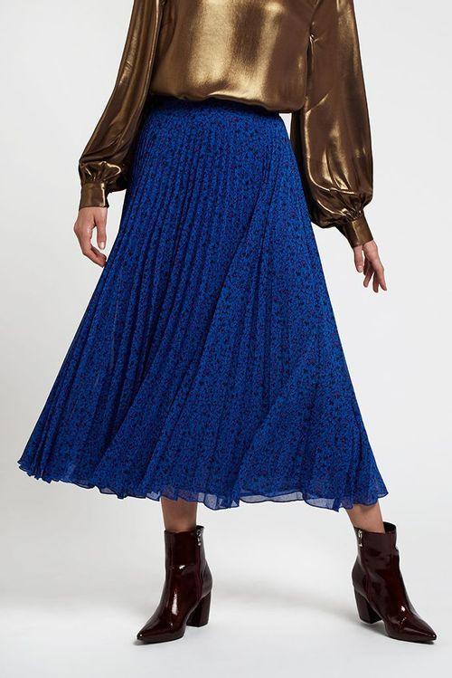 Louche Rima Honeysuckle Print Skirt Blue