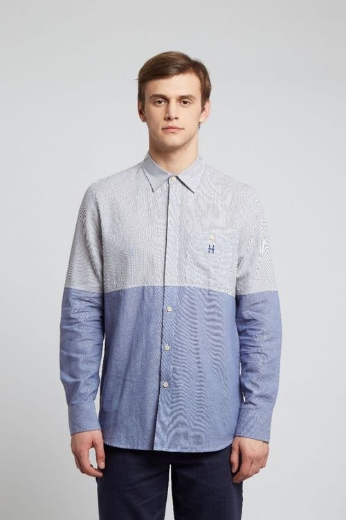 Hymn Divide Shirt Blue