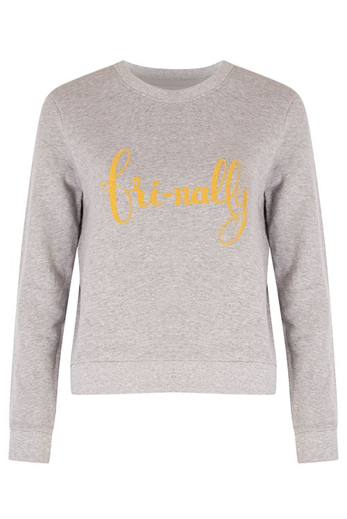 Joy Frinally Slogan sweatshirt Grey Marl