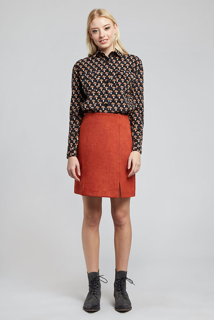 Louche-Kaila-Mini-Skirt-Orange-Main