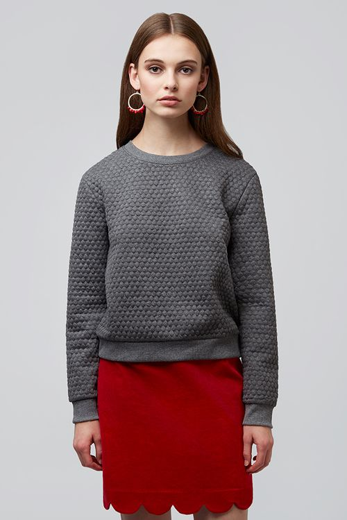 Louche Jan Honeycomb sweatshirt Grey