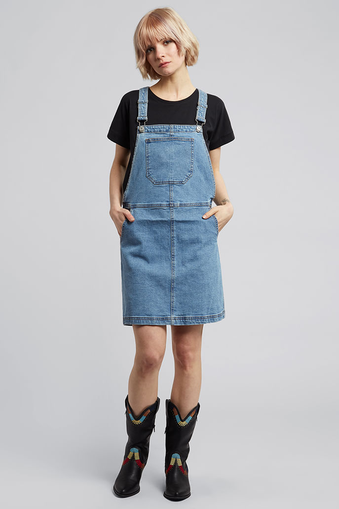 Bravesoul-Pippa-Pinafore-Denim-Dress-Blue-Main